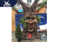 Anti - Rust Steel Frame Animatronic Talking Tree Model For Exhibition